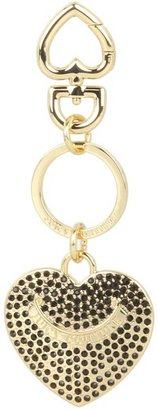 Juicy Couture Pave Heart Key Fob Gift Box (Black) - Bags and Luggage