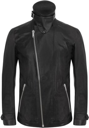 Alexander McQueen Black Leather Biker Jacket