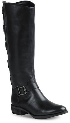 Arturo Chiang Elsie Over-the-Calf Leather Buckle Boots