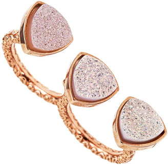 Ettinger UK Dara Mimi Druzy Double Ring in Rose Gold