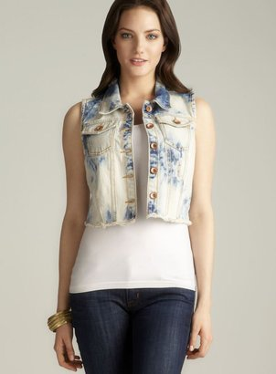 Dollhouse Tie Dye Frayed Denim Vest