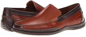 Johnston & Murphy Deaton Moc Venetian (Tan/Brown Full Grain) - Footwear
