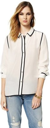 Juicy Couture Silk Colorblocked Blouse