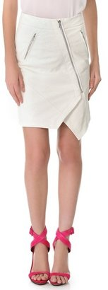 Yigal Azrouel Python Leather Skirt