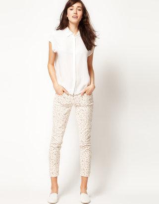 Current/Elliott Stiletto Skinny jeans In Floral Print