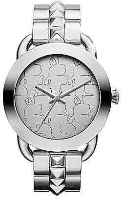 Karl Lagerfeld Silver Multiple Logo Dial Bracelet Watch