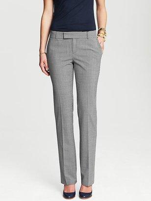 Banana Republic Martin-Fit Checkered Lightweight Wool Straight Leg