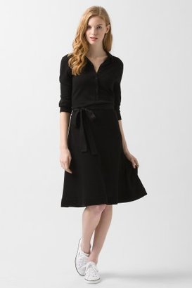 Lacoste Sleeve Cotton Belted Polo Sweater Dress