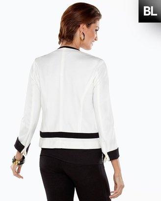 Chico's Black Label Ponte Colorblocked Jacket