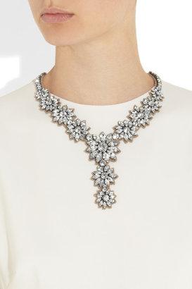 Valentino Flower Stones Swarovski crystal necklace