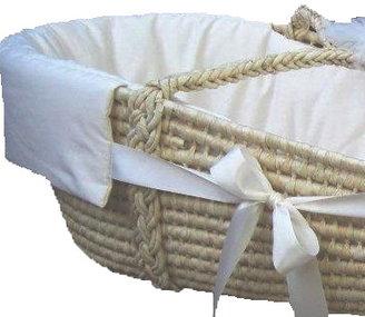 Green Baby Organic Sateen Cream Moses Basket