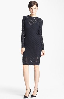 Tracy Reese Grid Lace Dress