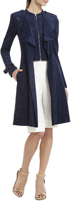 BCBGMAXAZRIA Ried Draped Perforated Trench