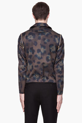 Kenzo Olive removable-sleeves Outerwear Jacket