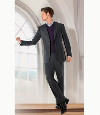 Jos. A. Bank Traveler Slim Fit 2-Button Suits with Plain Front Trousers- Grey