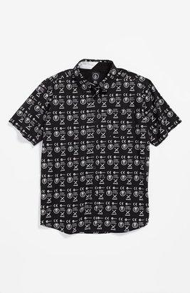 Volcom 'Skull Phone' Short Sleeve Sport Shirt (Big Boys)