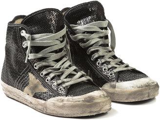 Golden Goose Women's Pailette Francy Sneakers - Black