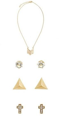 Charlotte Russe Chevron Necklace & Earrings Set