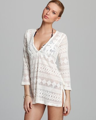 J Valdi Vintage Lace Tunic Swimsuit Cover Up