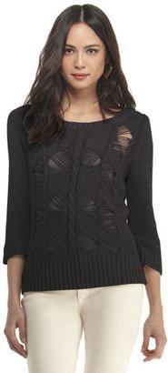 Rachel Roy Tattered Sweater