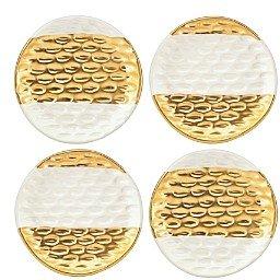 Michael Wainwright Truro Gold Canape Plates, Set of 4
