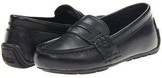 Polo Ralph Lauren Kids Telly (Toddler) (Black Full Grain Leather) Boy's Shoes