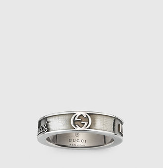 Gucci Wide Ring With Vintage Trademark