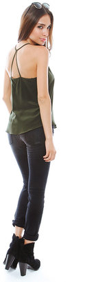 Rory Beca Moore Split Strap Cami in Army