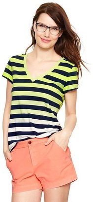 Gap Essential dip-dye striped T
