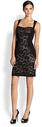 Aidan Mattox Sleeveless Lace Sheath Dress