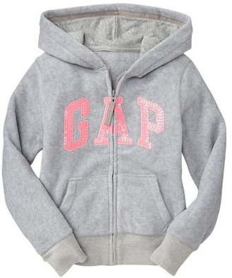 Gap Sequin arch logo fleece hoodie