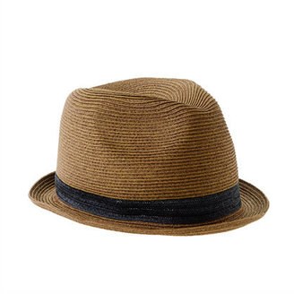 J.Crew Boys' solid band trilby hat