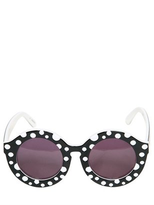 House of Holland Dot Rounded Acetate Sunglasses