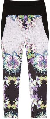 Just Cavalli Printed stretch-twill pants