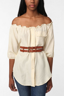 Urban Outfitters Cooperative Leather Double Belt