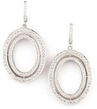 Ivanka Trump Signature Medium Oval Diamond Earrings $13,440 thestylecure.com