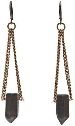 Luv Aj Black crystal earring
