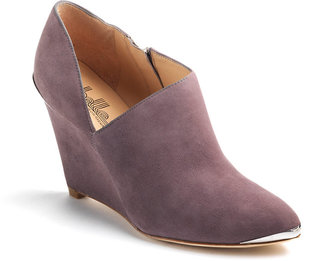 Belle by Sigerson Morrison Felicia Suede Ankle Wedge Boots