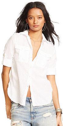 Ralph Lauren Denim & Supply Cotton Twill Shirt $79.50 thestylecure.com