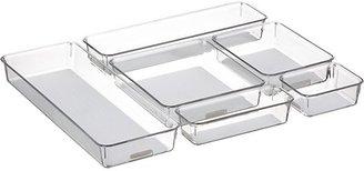 Crate & Barrel Clear-Grey Bins