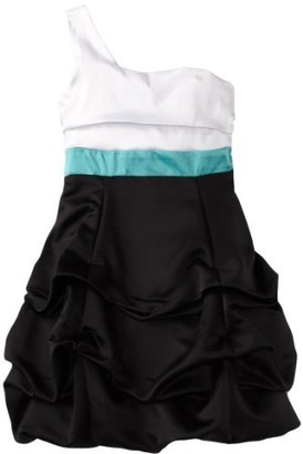 Ruby Rox Girls 7-16 One Shoulder Pick-Up Colorblock