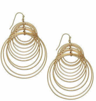 INC International Concepts Gold-Tone Multi-Circle Hook Earrings