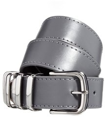 Asos Chunky Metal Keeper Belt - Gray