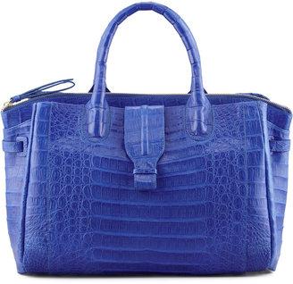 Nancy Gonzalez Cristina Crocodile Shoulder Tote Bag, Electric Blue