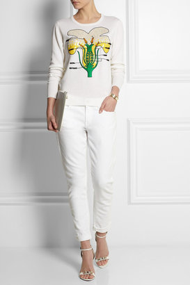 Christopher Kane Buttercup embellished cashmere sweater