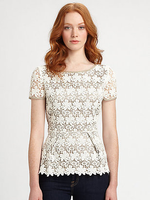 Elie Tahari Cotton Gabby Blouse