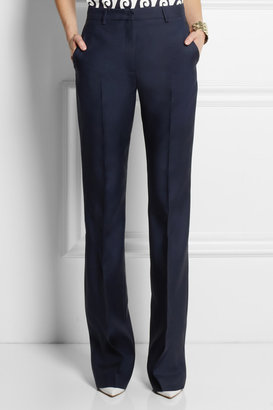 Vionnet Wool and silk-blend flared pants