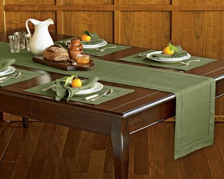 Williams-Sonoma Hemstitched Linen Table Runner