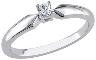 1/10 CT. T.W. Diamond Solitaire Ring - Silver (Size 8)