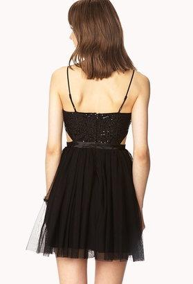 Forever 21 opulent sequined cocktail dress